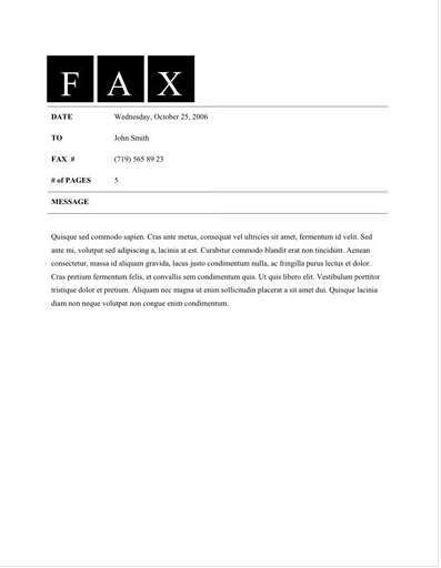 Free Fax Cover Sheet Templates | Top Form Templates | Free ...