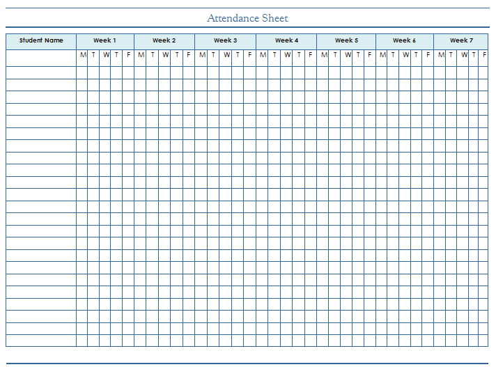 Employee Attendance Sheet Tracker Top Form Templates – Sample Attendance Sheets