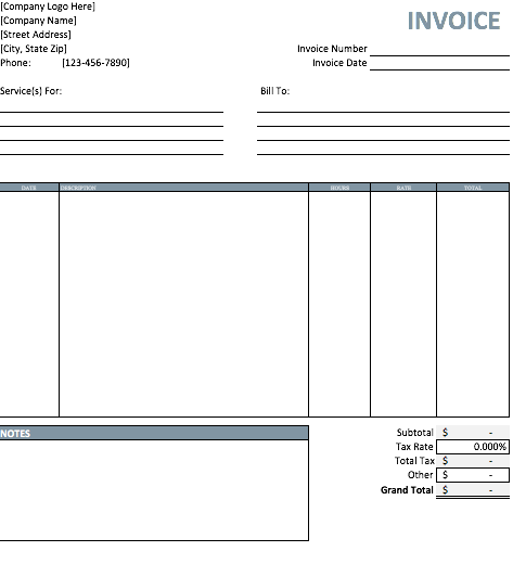 Free Printable Invoice Template, Free Invoice Template Pdf, Billing Invoice  Template Word  Free Printable Invoice Templates Download