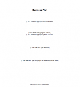 Simple Business Plan Template Word, simple business plan template free