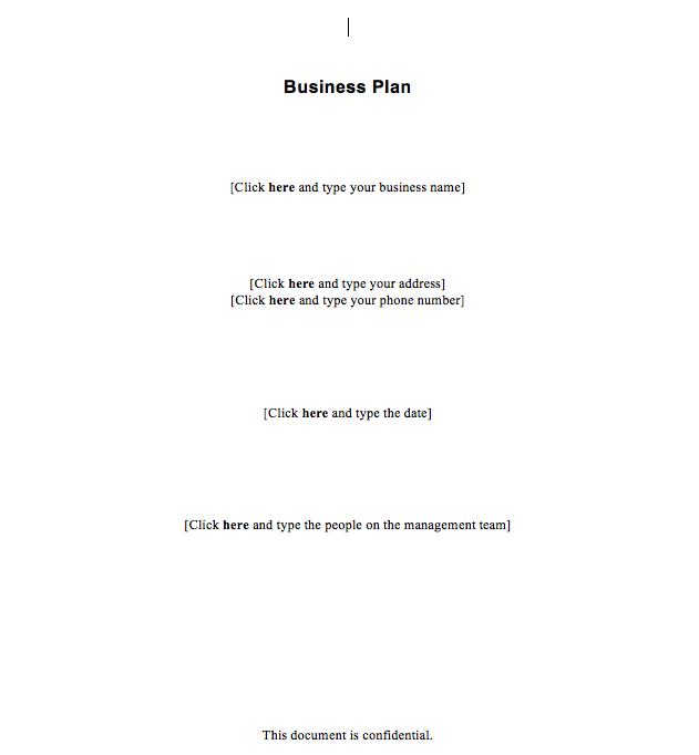 new business plan templates