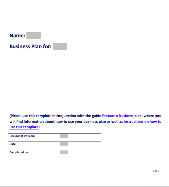 Simple Business Plan Template Doc, Simple Business Plan Template Free Word
