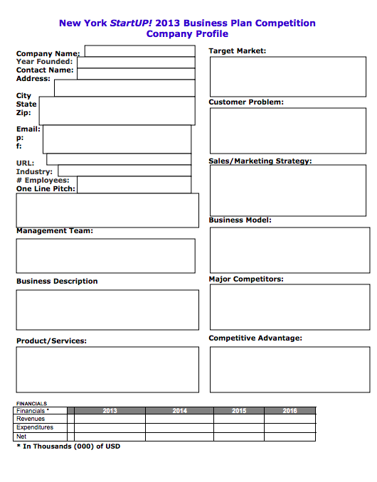 Free simple business plan template top form templates for Free buisness plan template