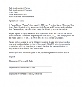 Letter of agreement for payment, Sample Payment Agreement Letter