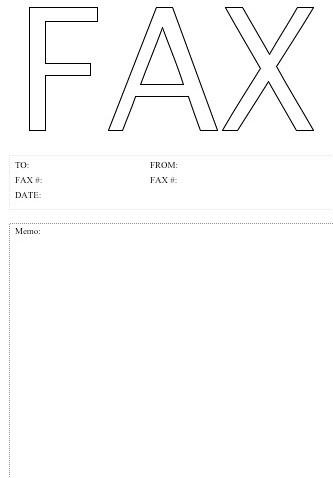 Printable Fax Cover Sheet Template  Fax Form Template Free