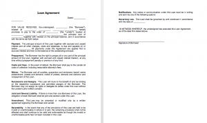 Sample of loan agreement between two parties, Loan agreement between individuals, Simple loan agreement template free