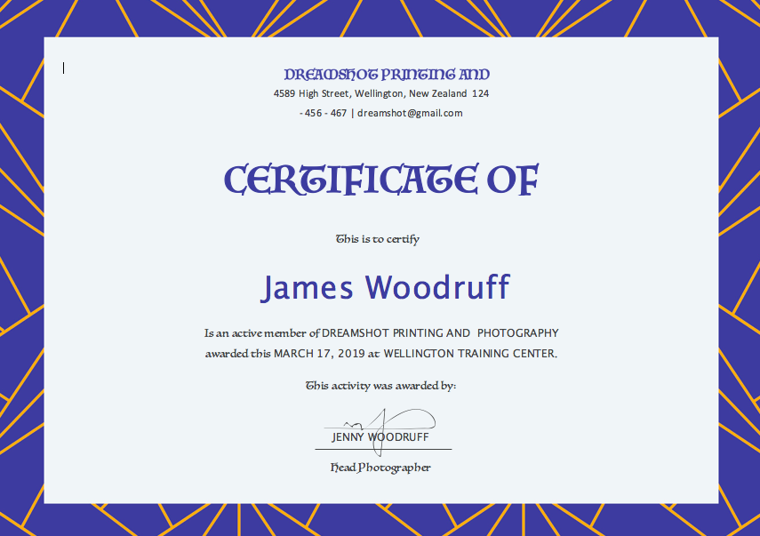 Free Certificate Templates For Word Top Form Templates Free