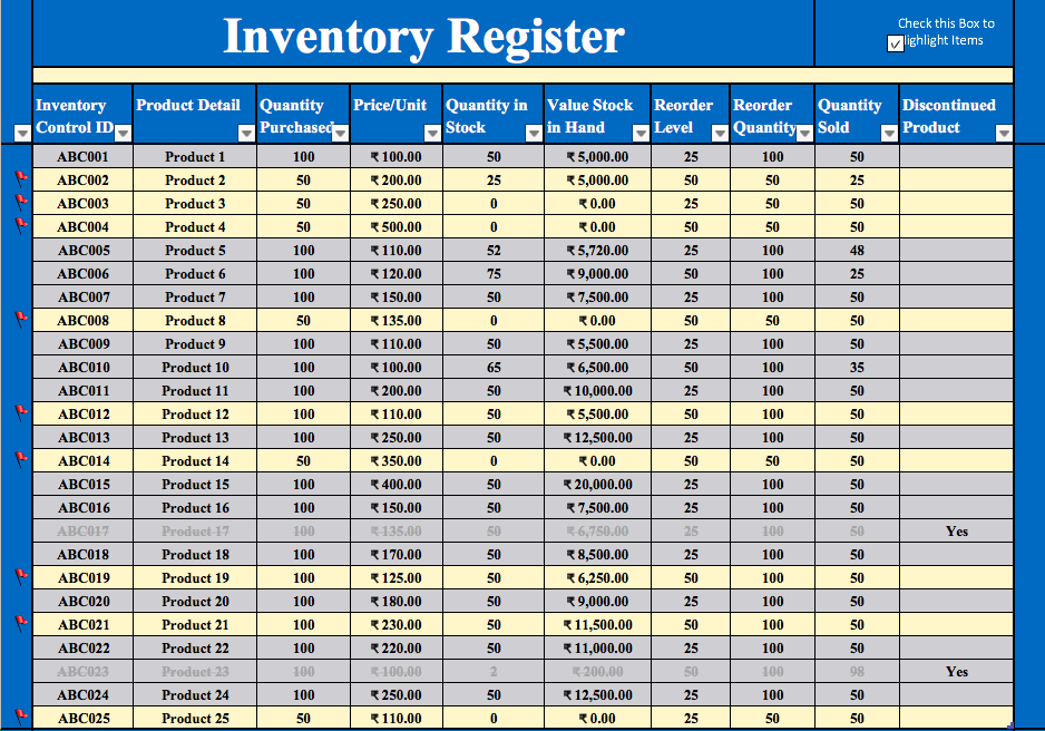 Inventory Excel Sheet Free Download Cprc