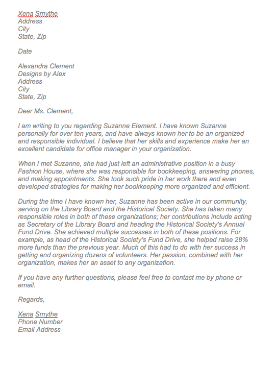 letter of recommendation for a friend top form templates free