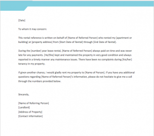 Reference Letter For Landlord From Employer, Reference Letter For Landlord From Employer