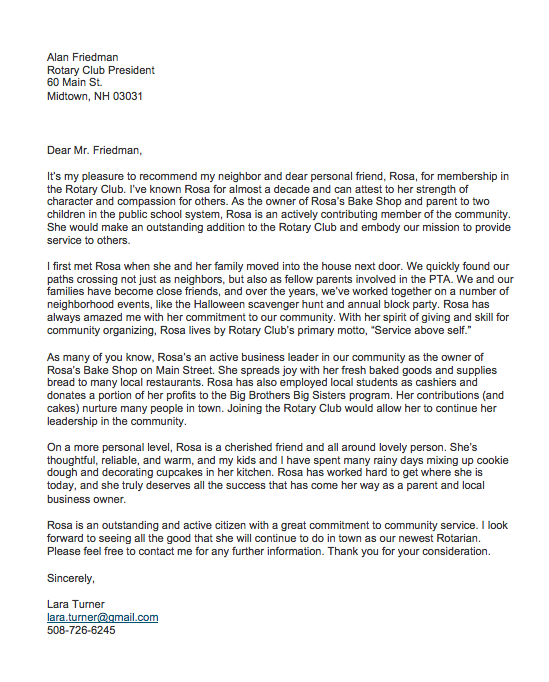 Sample Recommendation Letter For A Friend from topformtemplates.com