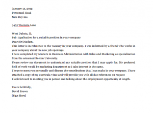 Simple Application Letter Sample For Any Vacant Position, Application letter sample for any position pdf