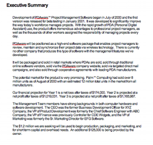 Executive Summary Example For Report, Executive Summary Sample For Project Report