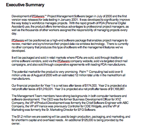 executive summary example for report top form templates free