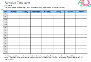 Daily Study Timetable For Students, study plan template for students