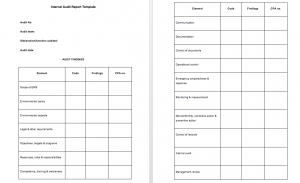 Internal audit report template free download