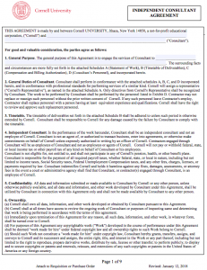 Sample letter of agreement for consulting services