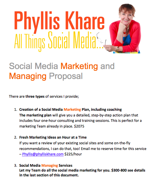 Social Media Marketing Proposal PDF, Facebook marketing proposal pdf