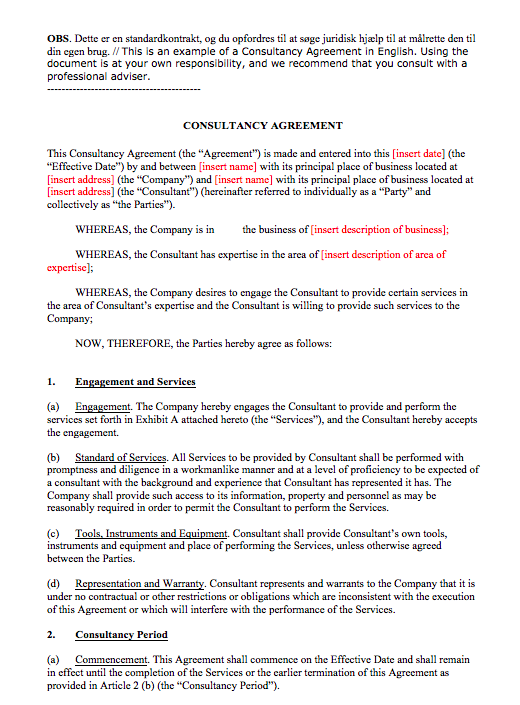 Simple Consulting Agreement Template Top Form Templates Free
