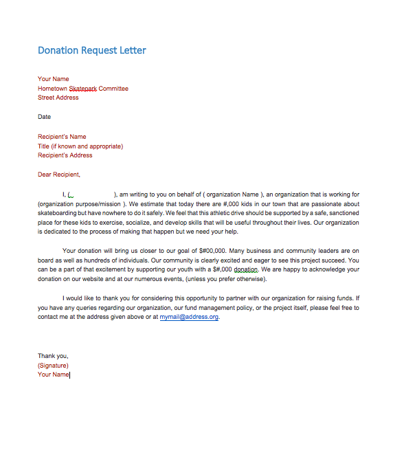 Sample Donation Request Letter To A Company Top Form Templates