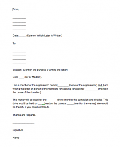 donation giving letter sample, donation receipt letter template