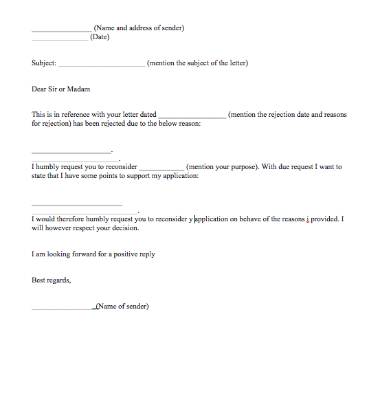 sample letter of appeal for consideration top form templates