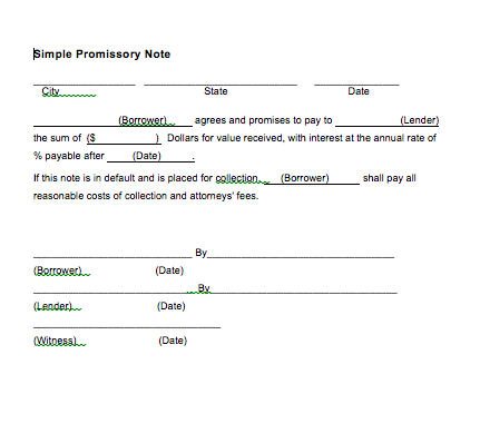 Simple Promissory Note Sample Letter, How to write a promissory note