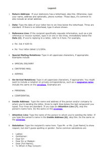 Business Letter Example For Students PDF, Business letter example for a company