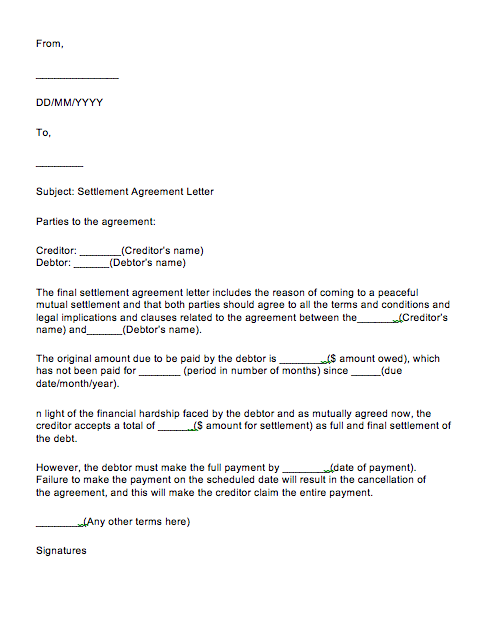 Full And Final Settlement Letter Sample, Full and Final Settlement Letter Format In Microsoft Word