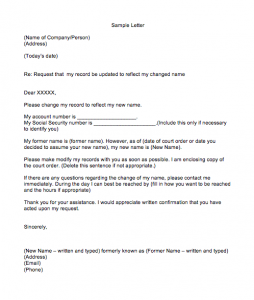 Letter To Bank Manager For Correction Of Name Spelling