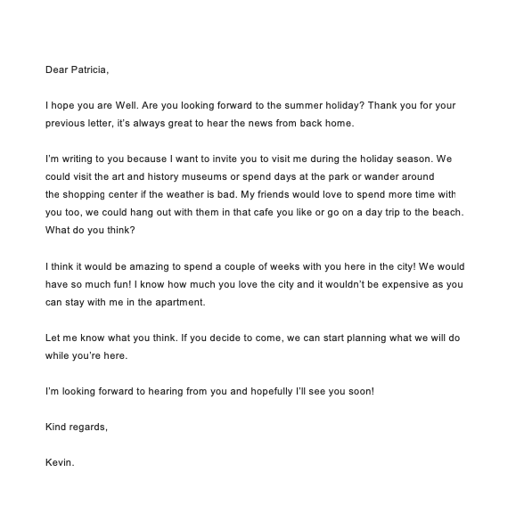 Letter Writing To A Friend About Your Holidays Top Form Templates