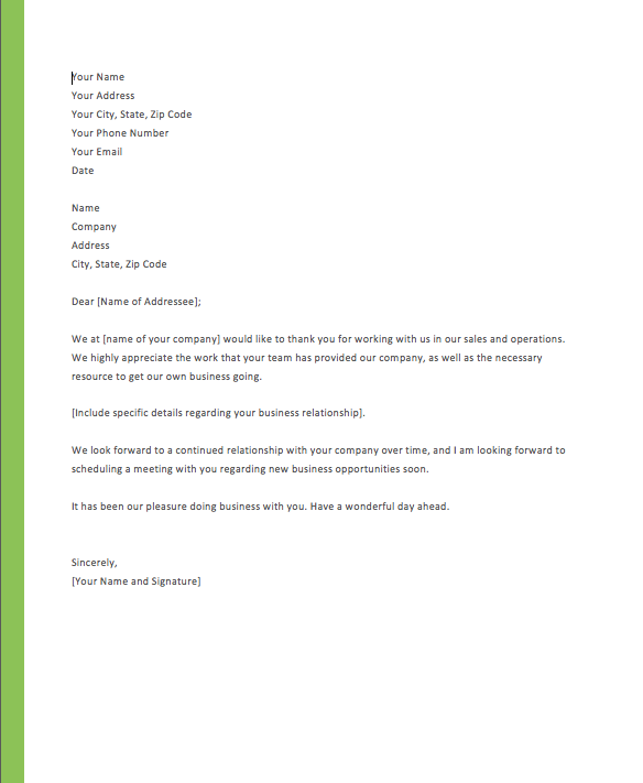 Thank You Letter To Client For Giving Business, Thank You Letter To Customer For Choosing Our Services