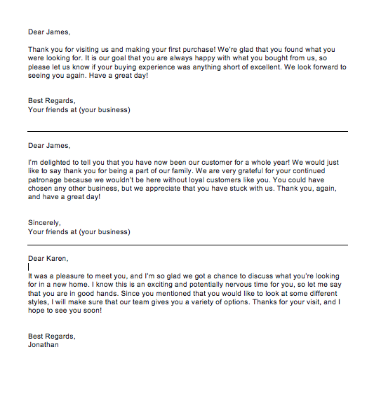 Thank You Letter To Customer For Their Support,  thank you letter to clients for their business
