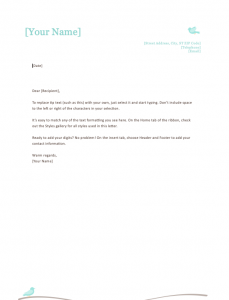 Free Personal Letterhead Templates Word, Business Letterhead Templates