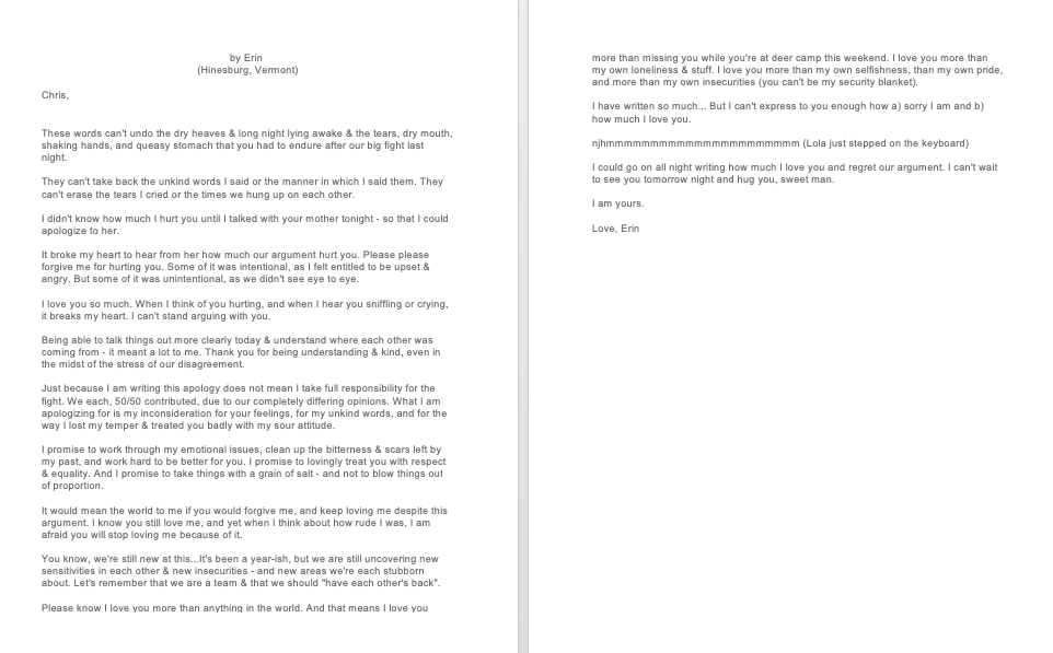 Letter To My Husband After A Fight
