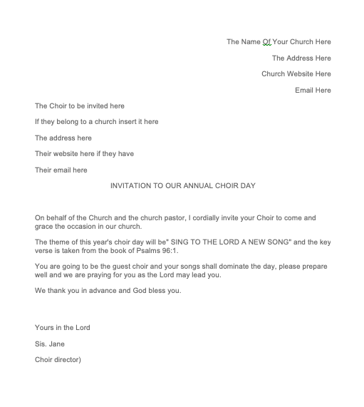 Example Letter Of Invitation For Guest Speaker | Top Form