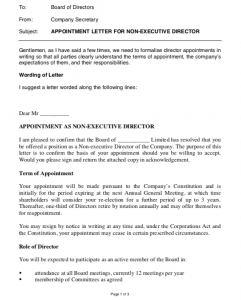 Private Company Appointment Letter Format, Appointment Letter Format Word