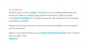 Sample Thank You Email After Business Meeting