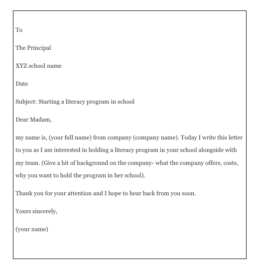 How To Write A Permission Letter To Principal | Top Form